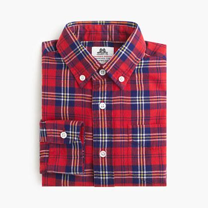 Boys' Thomas Mason® for crewcuts flannel Ludlow shirt