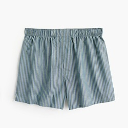 Faded green striped boxers