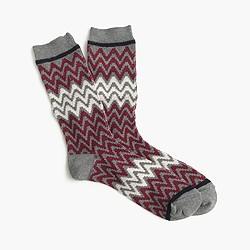 Woven chevron trouser socks