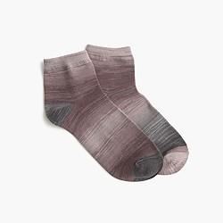 Marled-rayon ankle socks