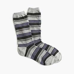Outlined-stripe trouser socks