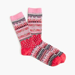 Two-tone Fair Isle trouser socks