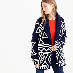 Collection Fair Isle cardigan sweater in lambswool
