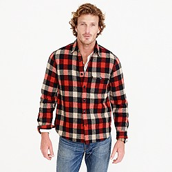 Shirt-jacket in essential check