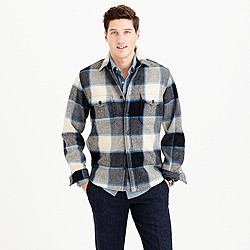 Wallace & Barnes shirt-jacket in wool Brookline plaid