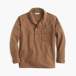 Wallace & Barnes shawl-collar popover shirt-jacket