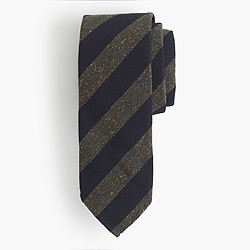 Drake's® English silk-wool tie in stripe