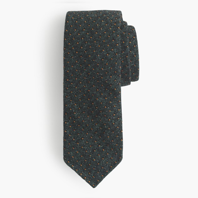Drake's® English silk-wool tie in spot