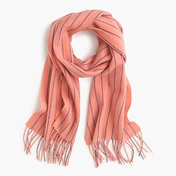 Collection pinstripe cashmere scarf