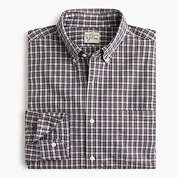 Slim Secret Wash shirt in eggplant plaid