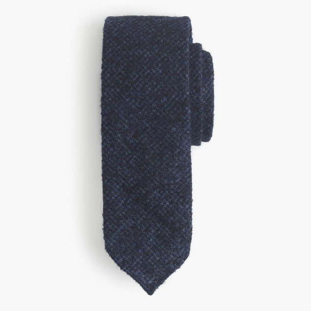 Drake's® English alpaca-wool tie in houndstooth