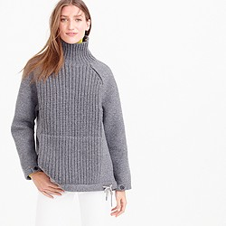 Collection wool-neoprene knit turtleneck sweater