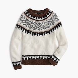 Collection Fair Isle sweater in Italian yarn