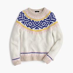 Collection Fair Isle sweater in Italian yarn