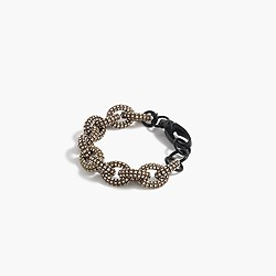 Black pavé chainlink bracelet