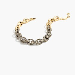 Mixed pavé link necklace