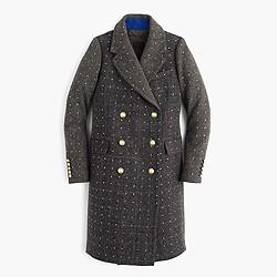 Collection embellished Harris Tweed topcoat
