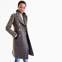 Collection embellished Harris Tweed topcoat
