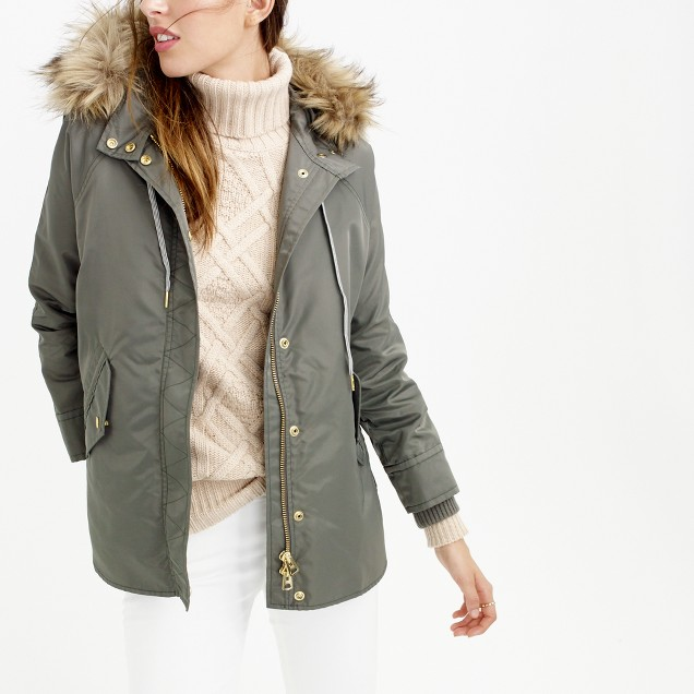 Collection nylon parka with removable liner