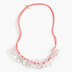 Girls' crystal rope cord necklace