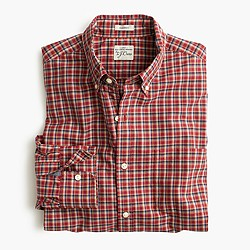 Secret Wash shirt in chimney plaid