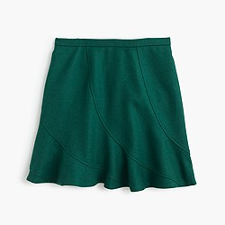 Flutter mini skirt in double-serge wool