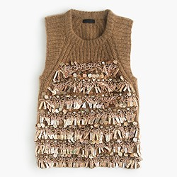 Collection embellished cashmere sleeveless sweater