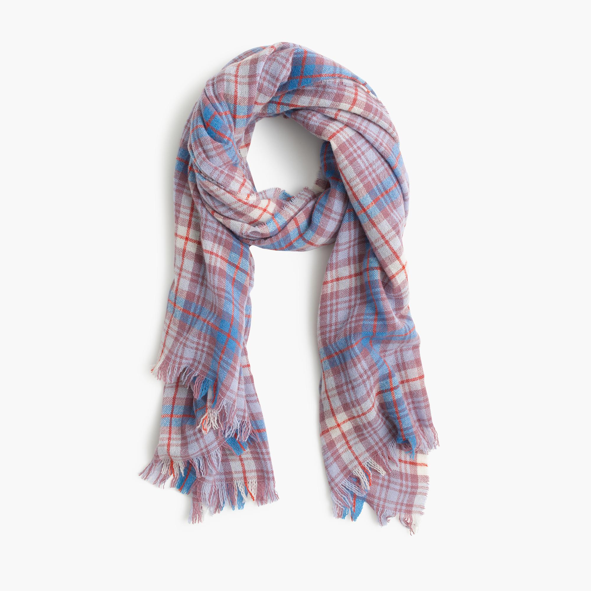 wool scarf in dawson plaid j crew