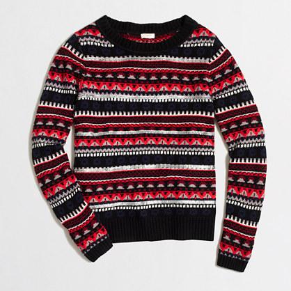 Sequined Fair Isle sweater