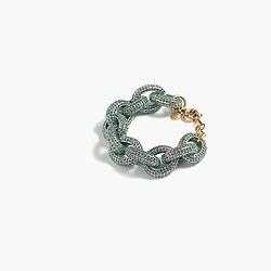 Pavé chunky chainlink bracelet