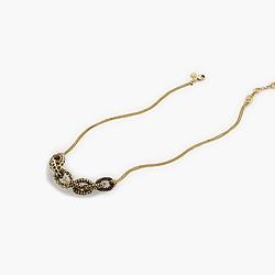 Mixed pavé link pendant necklace