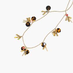 Dangling paillette necklace