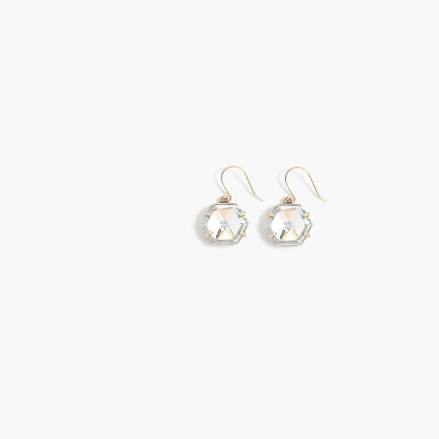 Crystal hexagon earrings