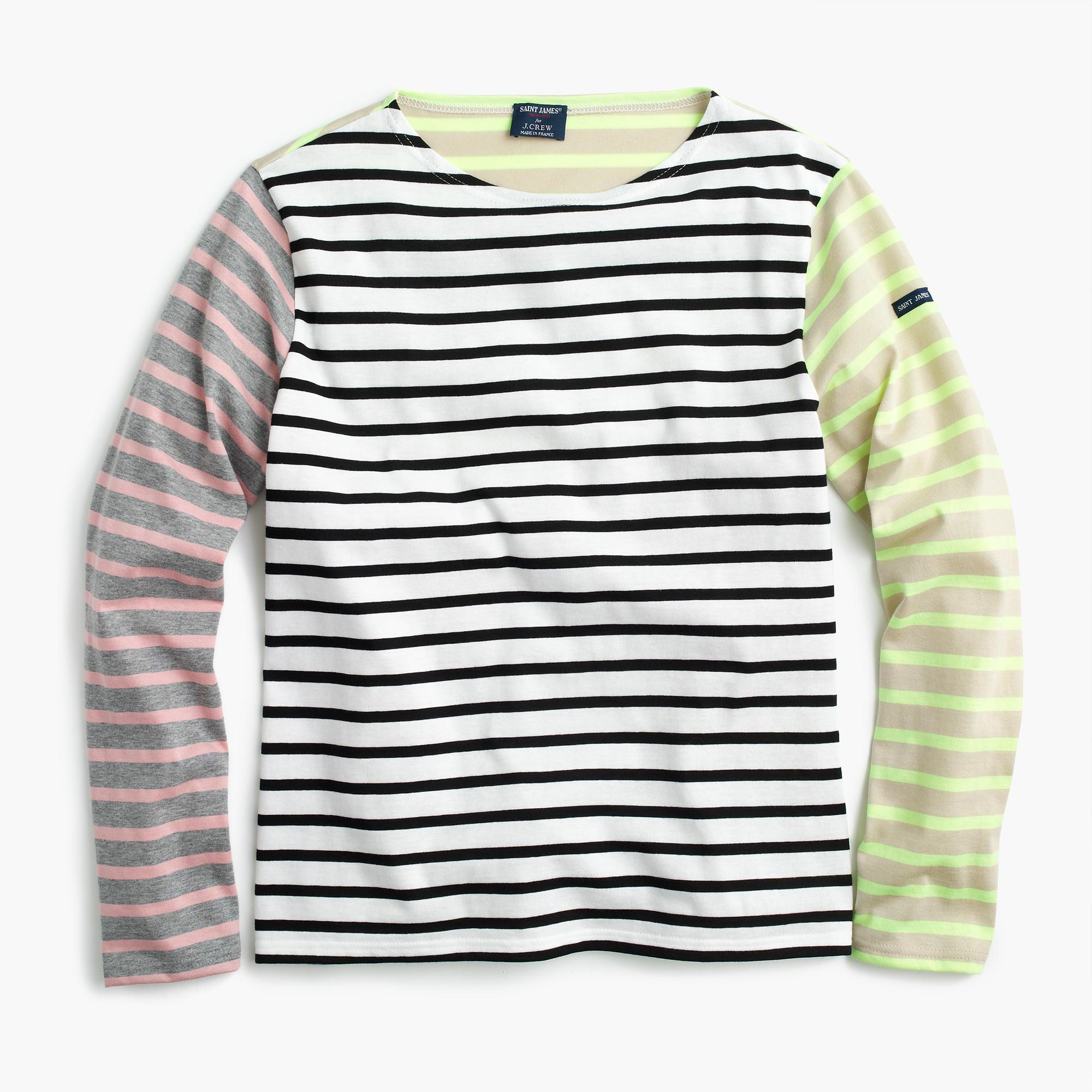 Saint james for j crew colorblock stripe t shirt women 39 s for St james striped shirt