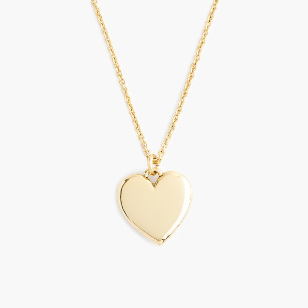 "14k gold heart charm necklace with 20 1/2"" chain"