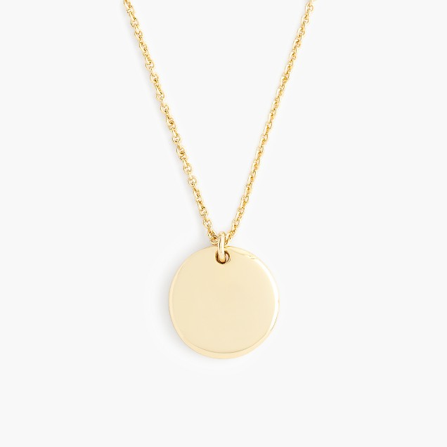 """14k gold circle charm necklace with 20 1/2"""" chain"""