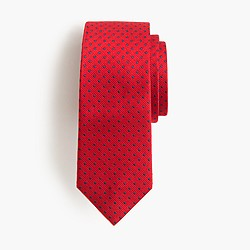 Boys' silk tie in pin dot