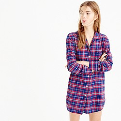 Sparkle plaid flannel nightshirt