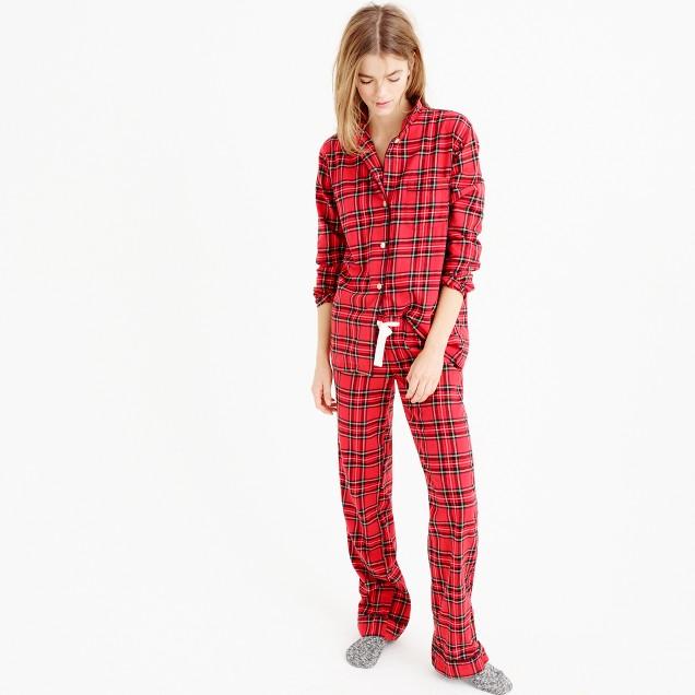 Classic tartan flannel pajama set