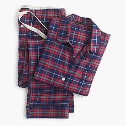 Sparkle plaid flannel pajama set