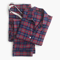 Sparkle plaid flannel pajama set