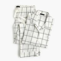 Windowpane plaid flannel pajama set