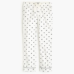 Bow flannel pajama pant