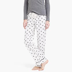 Bow flannel pajama pant