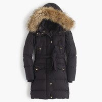 Wintress puffer coat with faux-fur hood