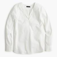 Tailored tunic in poplin