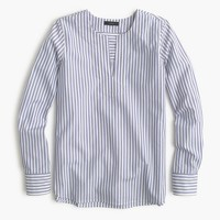 Tailored popover shirt in stripe