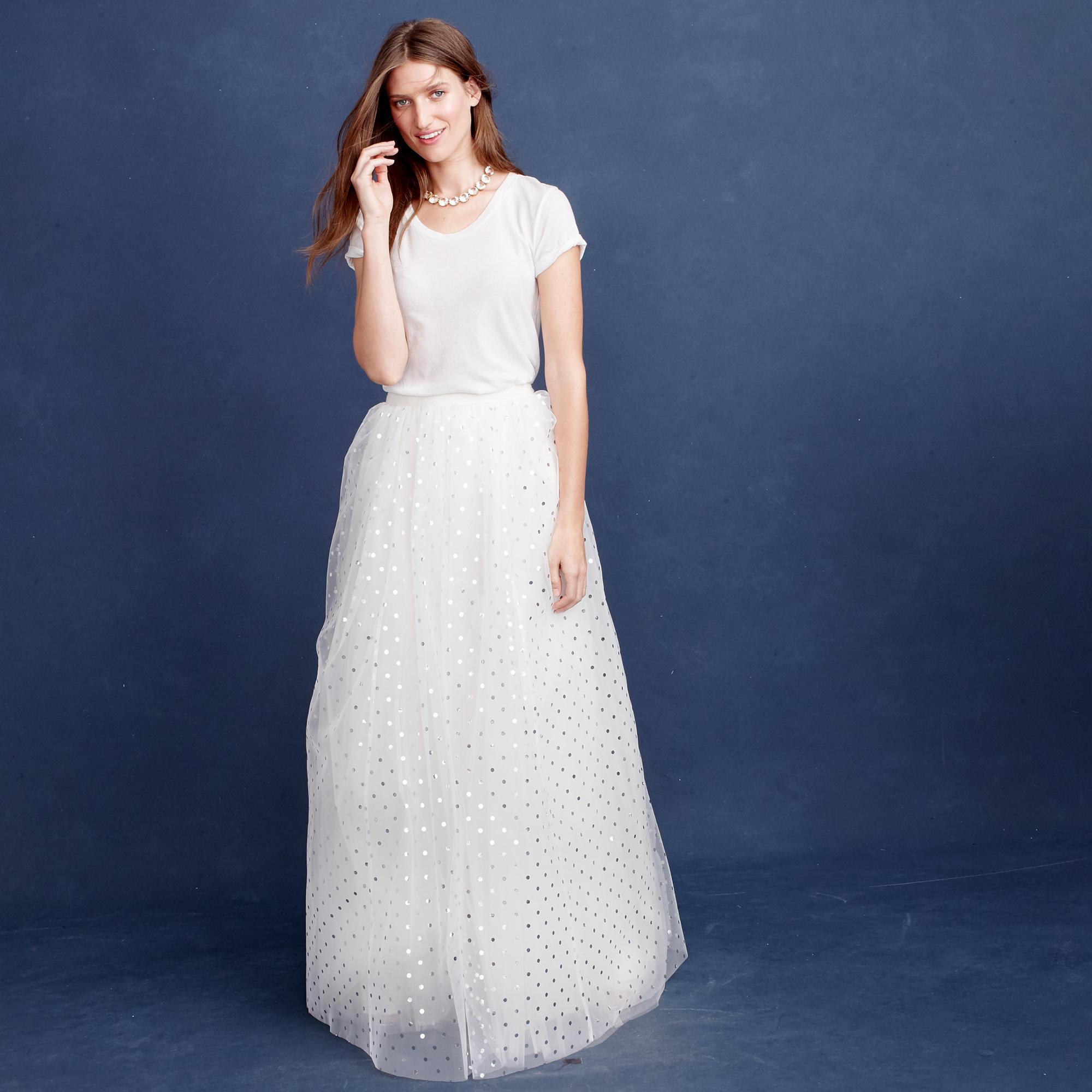 E j crew wedding dress Dalila tulle skirt