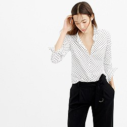 Tall perfect shirt in poplin dot