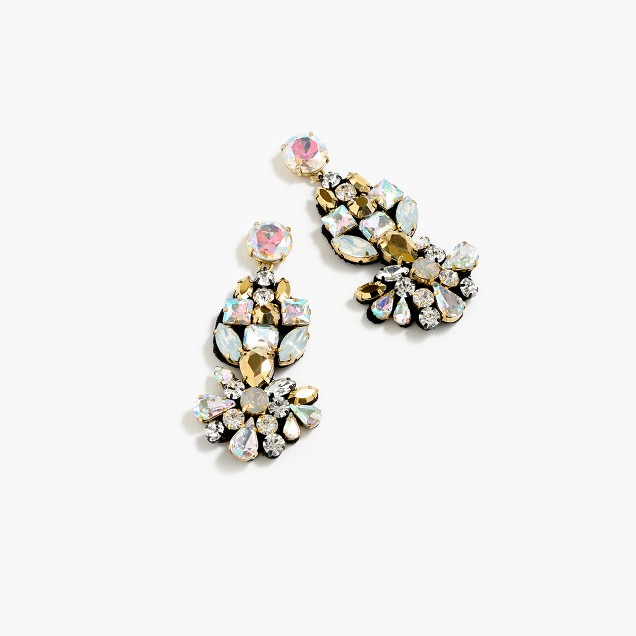 Crystal fabric-backed earrings